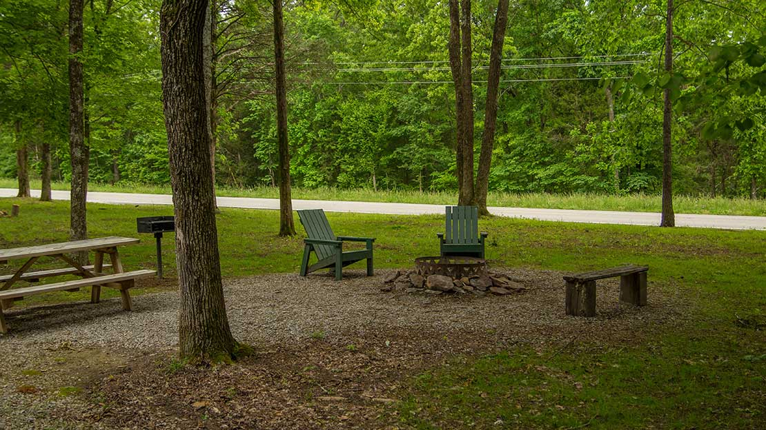 Private firepit in the Shawnee National Forest - Free firewood provided